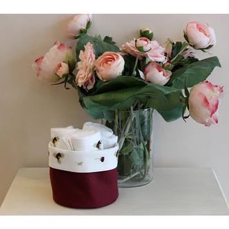 Набор кухонных полотенец 3 шт. Tivolyo Home VIOLET хлопковая вафля (бордовый)