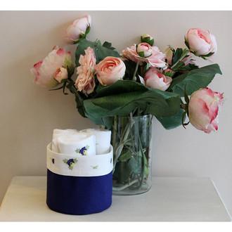 Набор кухонных полотенец 3 шт. Tivolyo Home VIOLET хлопковая вафля (синий)