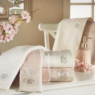 Подарочный набор полотенец для ванной 3 пр. Tivolyo Home GRANT хлопковая махра пудра