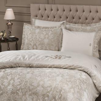 Комплект постельного белья Tivolyo Home EMPERIUM сатин-жаккард (кремовый)