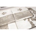 Постельное белье Tivolyo Home FORTUNY сатин-жаккард кремовый евро, фото, фотография