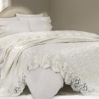 Комплект постельного белья с покрывалом Gelin Home DONNA DELUXE хлопковый сатин делюкс (шампань)