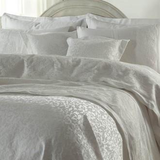 Постельное белье с покрывалом Gelin Home EMLAS хлопковый сатин делюкс (кремовый)