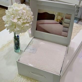 Махровая простынь-покрывало для укрывания Tivolyo Home ALORA хлопок (кремовый)