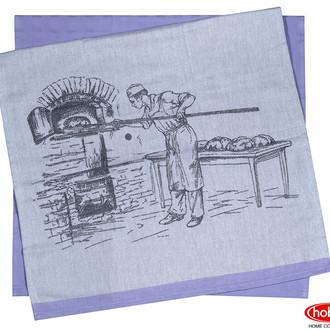Набор кухонных полотенец Hobby Home Collection PRINT хлопок (baker, фиолетовый)