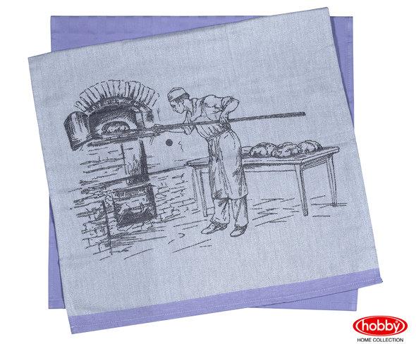 Набор кухонных полотенец Hobby Home Collection PRINT хлопок (baker, фиолетовый) 50*70(2), фото, фотография