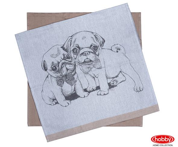 Набор кухонных полотенец Hobby Home Collection PRINT хлопок (dogs, светло-коричневый) 50*70(2), фото, фотография