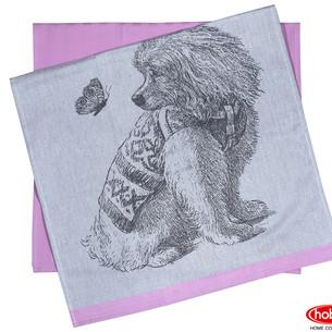 Набор кухонных полотенец Hobby Home Collection PRINT хлопок friend, розовый 50х70 2 шт.