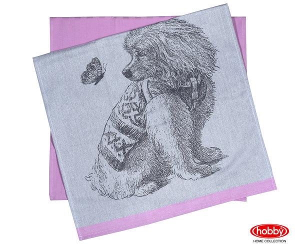 Набор кухонных полотенец Hobby Home Collection PRINT хлопок (friend, розовый) 50*70(2), фото, фотография