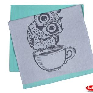 Набор кухонных полотенец Hobby Home Collection PRINT хлопок owl, минт 50х70 2 шт.