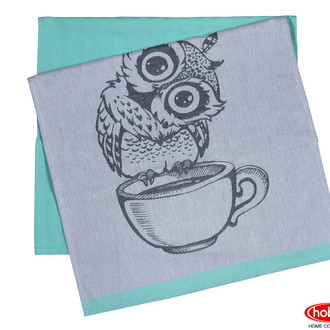Набор кухонных полотенец Hobby Home Collection PRINT хлопок owl, минт