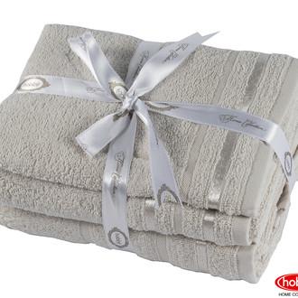Набор полотенец для ванной 3 пр. Hobby Home Collection NISA хлопковая махра (бежевый)