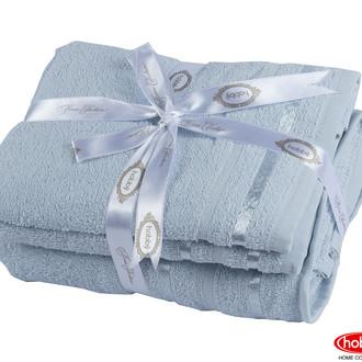 Набор полотенец для ванной 3 пр. Hobby Home Collection NISA хлопковая махра (голубой)