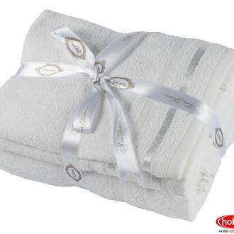 Набор полотенец для ванной 3 пр. Hobby Home Collection NISA хлопковая махра (молочный)
