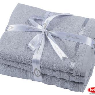 Набор полотенец для ванной 3 пр. Hobby Home Collection NISA хлопковая махра светло-серый