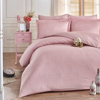 Комплект постельного белья Hobby Home Collection DAMASK сатин-жаккард (пудра)