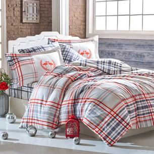 Постельное белье Hobby Home Collection FLAMINGO хлопковый сатин красный 1,5 спальный