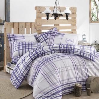 Комплект постельного белья Hobby Home Collection FLAMINGO хлопковый сатин (фиолетовый)
