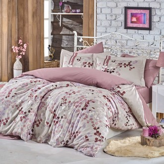 Комплект постельного белья Hobby Home Collection IRMA хлопковый сатин (пудра)