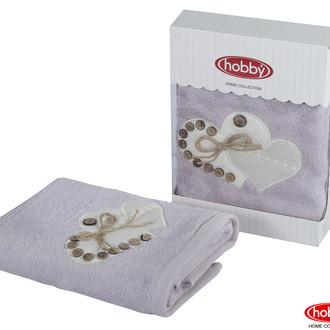Полотенце для ванной в подарочной упаковке Hobby Home Collection FELISIA-TINA бамбуково-хлопковая махра светло-лиловый