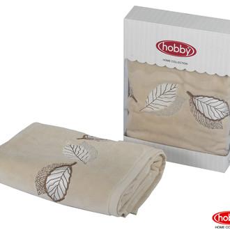 Полотенце для ванной в подарочной упаковке Hobby Home Collection LEYDI-ANNA хлопковая махра бежевый