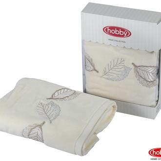 Полотенце для ванной в подарочной упаковке Hobby Home Collection LEYDI-ANNA хлопковая махра (кремовый)