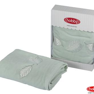 Полотенце для ванной в подарочной упаковке Hobby Home Collection LEYDI-ANNA хлопковая махра (минт)