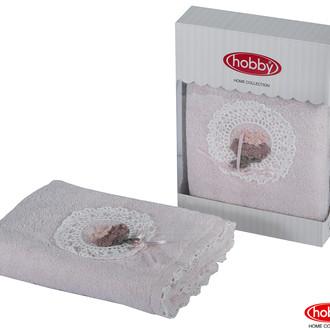 Полотенце для ванной в подарочной упаковке Hobby Home Collection ROMANTIC хлопковая махра персиковый