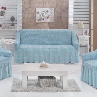 Набор чехлов на трёхместный диван и кресла (2 шт.) Bulsan EVERY (бирюзовый)