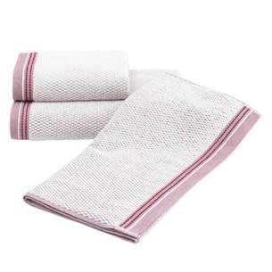 Набор полотенец для ванной 2 пр. Soft Cotton TERRA хлопковая махра бордовый