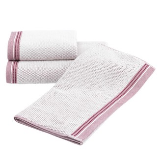 Набор полотенец для ванной 2 пр. Soft Cotton TERRA хлопковая махра (бордовый)