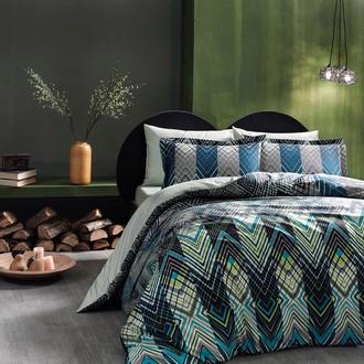 Комплект постельного белья TAC PREMIUM DIGITAL SHANGHAI хлопковый сатин deluxe