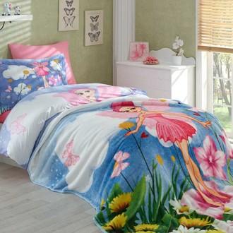 Комплект подросткового постельного белья с покрывалом Hobby Home Collection STELLA хлопковый поплин розовый