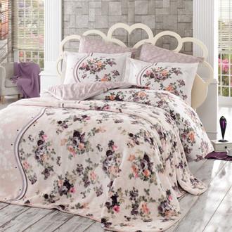 Комплект постельного белья с покрывалом Hobby Home Collection SUSANA хлопковый поплин (коричневый)