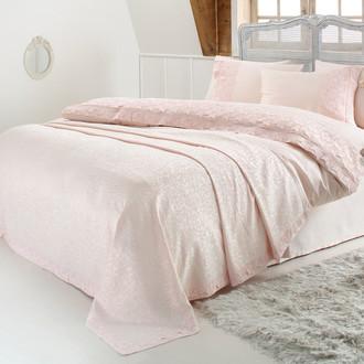 Комплект постельного белья с покрывалом Gelin Home ESMA хлопковый сатин делюкс (персиковый)