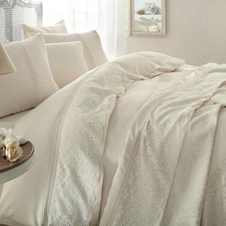 Комплект постельного белья с покрывалом Gelin Home EVIN хлопковый сатин делюкс (шампань)