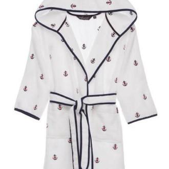 Детский халат Soft Cotton MARINE хлопковая махра белый