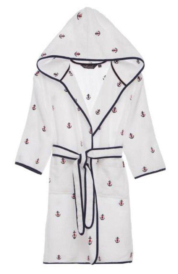 Детский халат Soft Cotton MARINE хлопковая махра (белый) 2 года, фото, фотография
