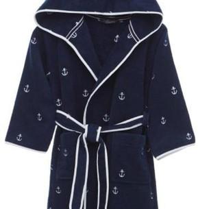 Детский халат Soft Cotton MARINE хлопковая махра синий 8 лет