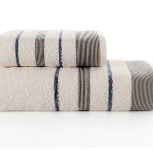 Набор полотенец для ванной Karna REGAL SET хлопковая махра кремовый