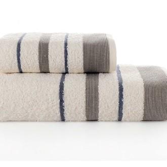Набор полотенец для ванной Karna REGAL SET хлопковая махра (кремовый)
