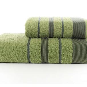 Набор полотенец для ванной Karna REGAL SET хлопковая махра зелёный