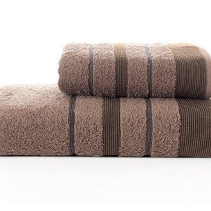 Набор полотенец для ванной Karna REGAL SET хлопковая махра коричневый
