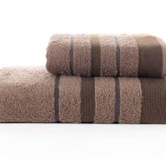 Набор полотенец для ванной Karna REGAL SET хлопковая махра (коричневый)