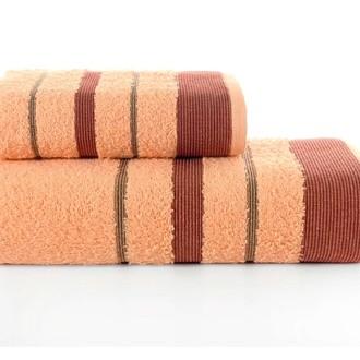 Набор полотенец для ванной Karna REGAL SET хлопковая махра (абрикосовый)