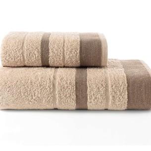 Набор полотенец для ванной Karna REGAL SET хлопковая махра кофейный