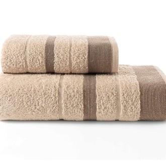 Набор полотенец для ванной Karna REGAL SET хлопковая махра (кофейный)