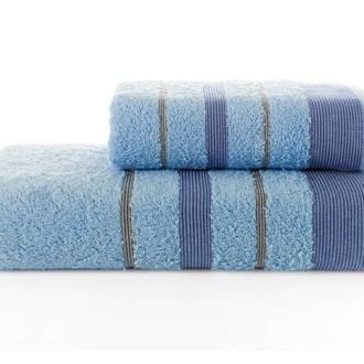 Набор полотенец для ванной Karna REGAL SET хлопковая махра (голубой)