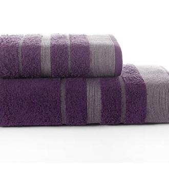 Набор полотенец для ванной Karna REGAL SET хлопковая махра (фиолетовый)