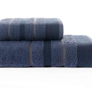 Набор полотенец для ванной Karna REGAL SET хлопковая махра синий